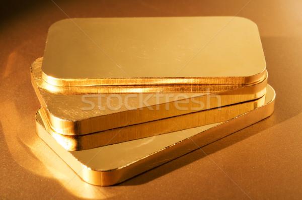Arany három arany sekély pénzügy bank Stock fotó © EvgenyBashta