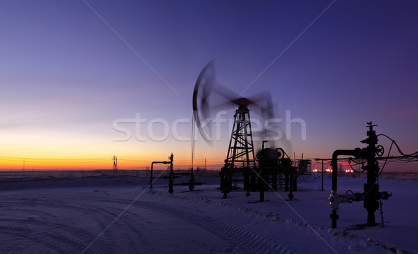Oil rig in action. Stock photo © EvgenyBashta