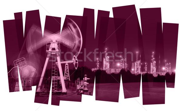 Olie-industrie abstract olie gas industrie foto Stockfoto © EvgenyBashta