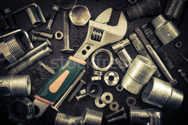ключа орехи Гранж инструменты аннотация Сток-фото © EvgenyBashta