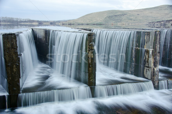 water flowing over a dam Stock photo © EvgenyBashta