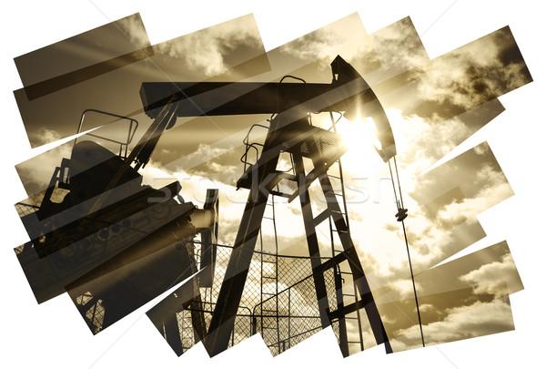 Plataforma de petróleo abstrato indústria do petróleo Óleo alto indústria Foto stock © EvgenyBashta