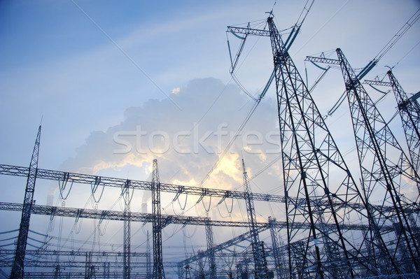 бизнеса небе облака технологий дым Сток-фото © EvgenyBashta