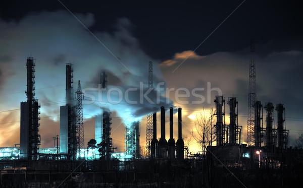 Grangemouth Refinery at Night Stock photo © EvgenyBashta