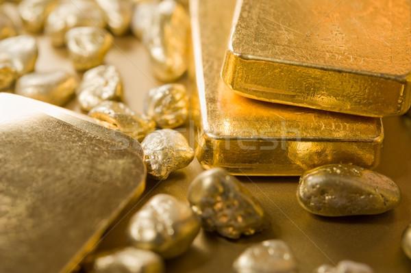 ストックフォト: 金 · 黄色 · 高級 · マクロ · バー · シンボル