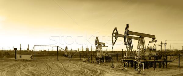 Panoramik yağ gaz sanayi Stok fotoğraf © EvgenyBashta