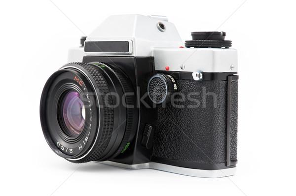 öreg kamera klasszikus utasítás film izolált Stock fotó © EvgenyBashta