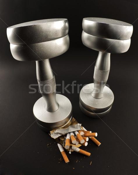 Cigarettes Pack métal noir sport Photo stock © EvgenyBashta