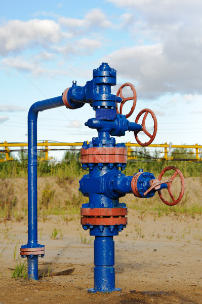 Olaj benzin ipar szelep ipari cső Stock fotó © EvgenyBashta