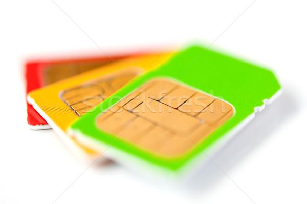 SIM cards Stock photo © EvgenyBashta