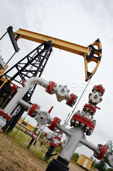 Olajfúró torony olaj western Szibéria Oroszország ipari Stock fotó © EvgenyBashta