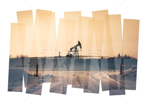 Pumpa absztrakt olajipar olaj benzin ipar Stock fotó © EvgenyBashta