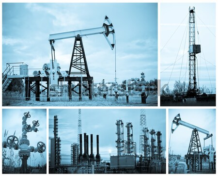Oil industry. Oil extraction. Stock photo © EvgenyBashta