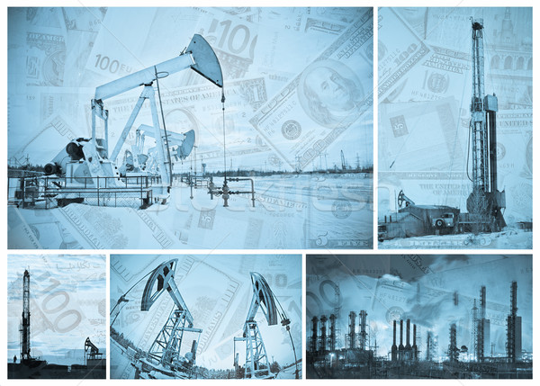 Oil industry and money. Stock photo © EvgenyBashta