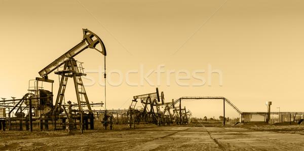 нефть области насос группа промышленных энергии Сток-фото © EvgenyBashta