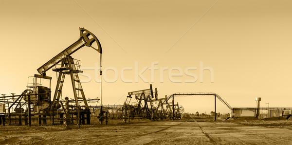 Oil pumps on a oil field. Stock photo © EvgenyBashta