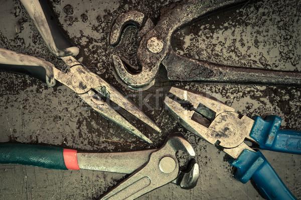 различный инструменты набор старые ржавые Vintage Сток-фото © EvgenyBashta