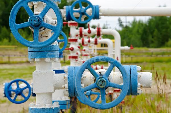 промышленных трубы нефть газ промышленности клапан Сток-фото © EvgenyBashta
