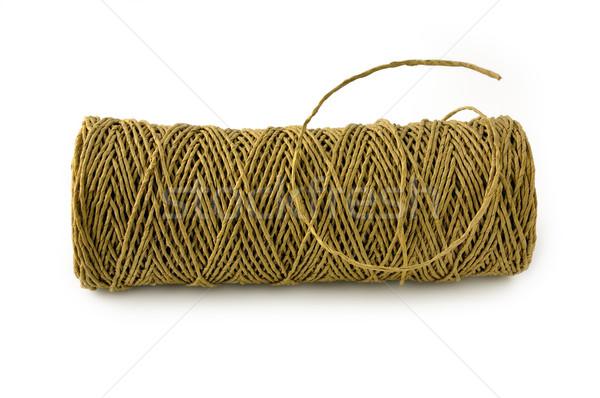 бумаги веревку грубая оберточная бумага изолированный белый Сток-фото © EvgenyBashta