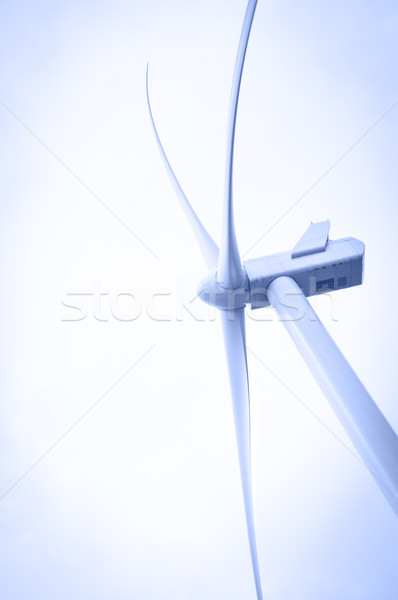 Szélturbina szél energia elektromosság építkezés technológia Stock fotó © EvgenyBashta