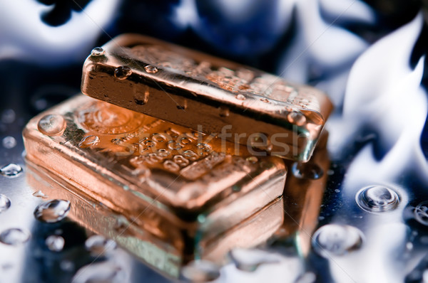 gold ingot and  flame Stock photo © EvgenyBashta