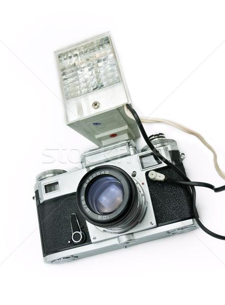ретро камеры Flash классический фильма изолированный Сток-фото © EvgenyBashta