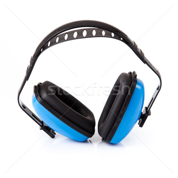 Hearing protection earmuffs on white background. Stock photo © EwaStudio