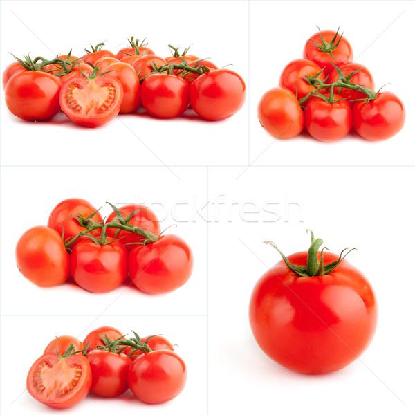 セット 赤 トマト 孤立した 白 新鮮な ストックフォト © EwaStudio