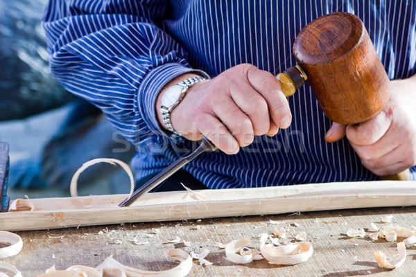 Photo stock: Bois · ciseler · charpentier · outil · travaux · artiste