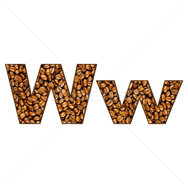 ストックフォト: コーヒー · 手紙 · 白 · 1 · アルファベット