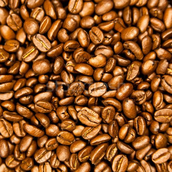 Marrom café textura grãos de café Foto stock © EwaStudio