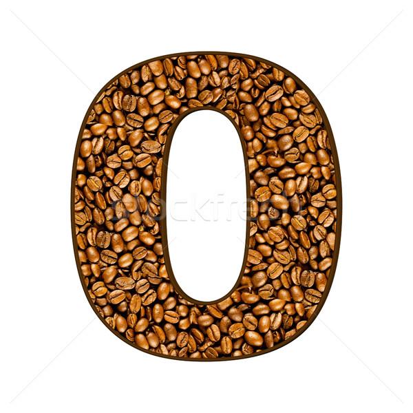 Aantal koffiebonen witte koffie abstract achtergrond Stockfoto © EwaStudio