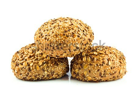 round wholemeal bread. resh buns with different seeds.  Stock photo © EwaStudio
