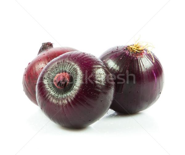 Red onions isolated on white background  Stock photo © EwaStudio