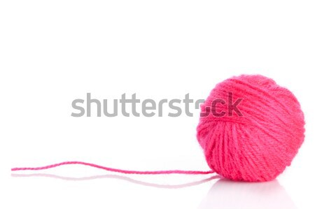 Pink Yarn Ball  on white background  Stock photo © EwaStudio