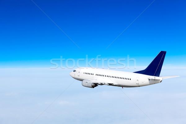 самолет небе синий плоскости скорости корпоративного Сток-фото © EwaStudio