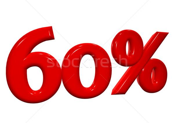 60 パーセント 赤 文字 白 ビジネス ストックフォト © EwaStudio