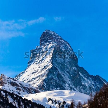 Швейцария закат природы пейзаж снега горные Сток-фото © EwaStudio