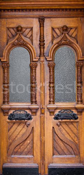 Velho porta casa parede casa Foto stock © EwaStudio
