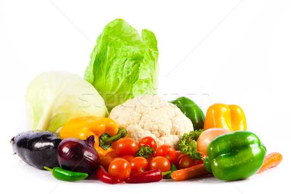 Stock photo: vegetables isolated on a white background