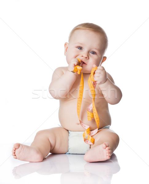 çok güzel bebek erkek el saç Stok fotoğraf © EwaStudio