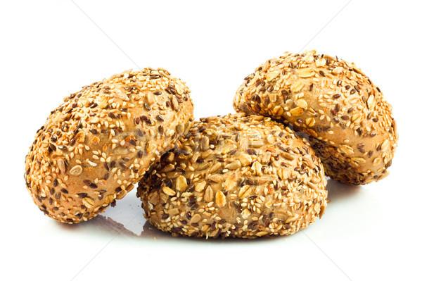 Schrot Brot unterschiedlich Samen Essen Sonnenblumen Stock foto © EwaStudio