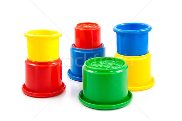 Kleurrijk speelgoed kinderen plastic witte Stockfoto © EwaStudio