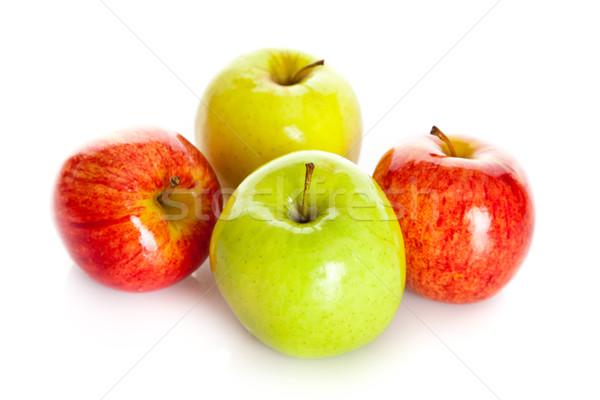 リンゴ 孤立した 白 食品 自然 背景 ストックフォト © EwaStudio