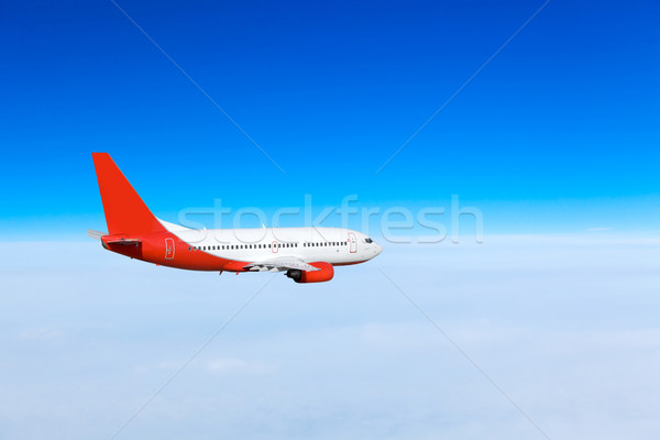 Avião céu azul avião acelerar corporativo Foto stock © EwaStudio