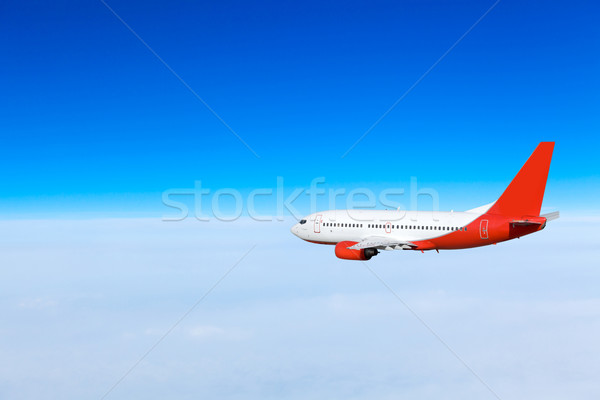 Airplane in the sky.  Passenger Airliner Stock photo © EwaStudio