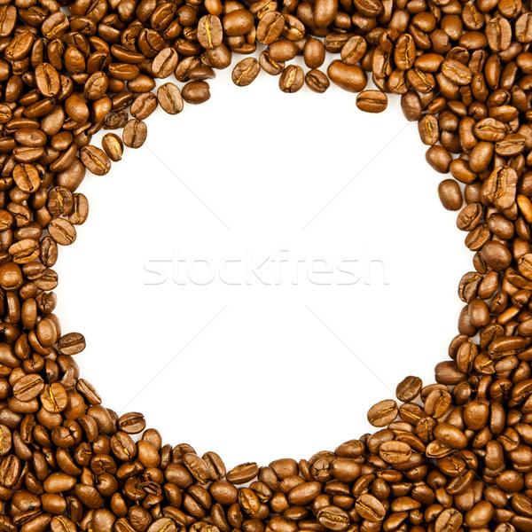 フレーム コーヒー豆 白 食品 スペース ストックフォト © EwaStudio