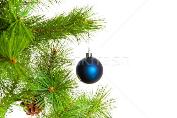 Heiter Weihnachten glückliches neues Jahr Holz Schnee Hintergrund Stock foto © EwaStudio
