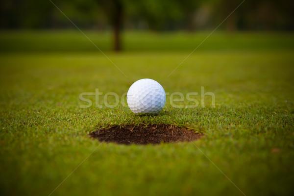 Stockfoto: Golfbal · lip · beker · golf · sport · groene