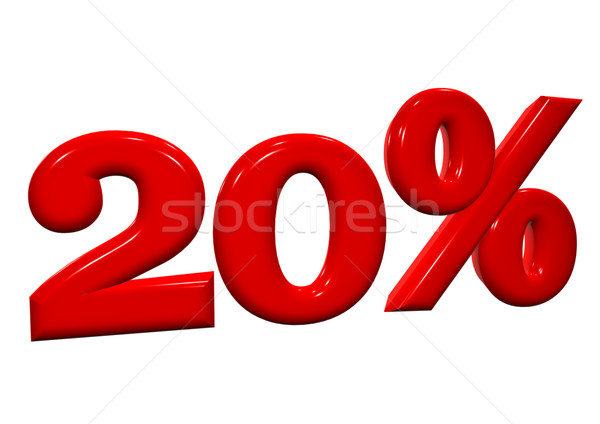 20 percent in red letters on a white background Stock photo © EwaStudio